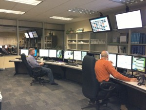 Just down the hall from Stubbs' office, Entergy monitors plants 24/7.