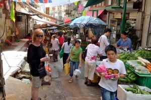 Stubbs at a Hong Kong market