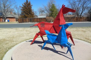 Red and Blue Horses by Kevin Box