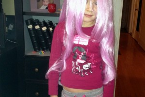 Youngest CA grandaughter emjoying a moment of being punk.