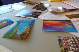 Postcards as a method to stimulate ideas at a recent Writing Church