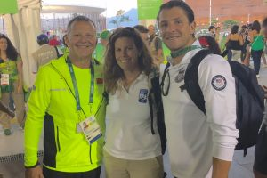 Left, Ricardo Alvarez, Havens, and right, Tony Alvarez (Rico's son and U.S. men's Olympic coach.