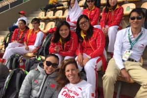 Lauren with the Chinese Olympic team